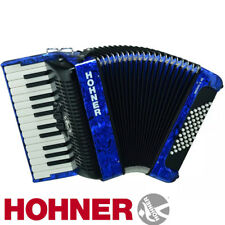 Hohner Bravo II 48 Chromatic Piano Accordion - Pearl Dark Blue + Gig Bag, Straps