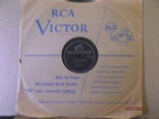 "RCA 10"" 78/Walter Schumann/Marie Vernon/All Alone/I See The Moon/E!!!"