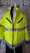 WATERPROOF WINTER FLEECE COAT PARKA PLUS SIZE M BUILDER MOTORBIKER WORK WEAR HV