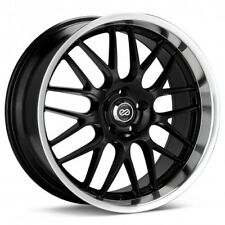 18x7.5 Enkei LUSSO 5x110 +42 Black Wheels Rims Set(4)