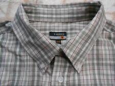 E9000 T-Traxx camisa 40 caqui tonos marrón beige a cuadros