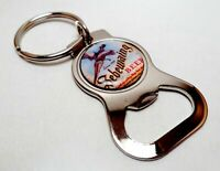 SEBEWAING Beer Beer Can Bottle Cap Opener Key Chain / Key Ring Handmade