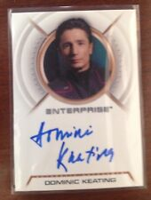Star Trek Enterprise Autograph Card A1 Dominic Keating as Malcom Reed