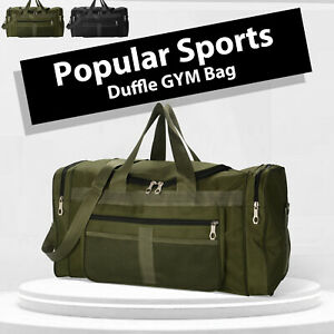 Sports Duffle Gym Bag Large Holdall Canvas Bag Cabin Mens Holiday Travel Luggage