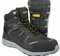 MENS STANLEY LIGHTWEIGHT BOOTS LEATHER STEEL TOE CAP WORK HIKER SHOES TRAINER SZ