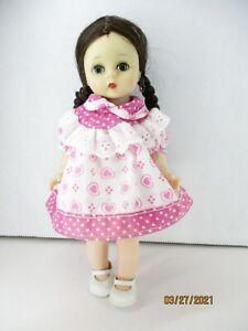 """1960's? Hard Plastic 71/2"""" Alex bended knee Molded Lash Pink dress"""