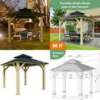 10' x 10' Patio Hardtop Gazebo with Double Steel Roof for Outdoor