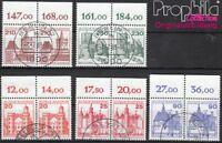 BRD 995wP-999wP waagerechte Paare gestempelt 1978 Burgen und Schlösser (8928147