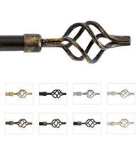 Bastone tenda estendibile 120-210cm o 160-300cm ferro asta con anelli supporti