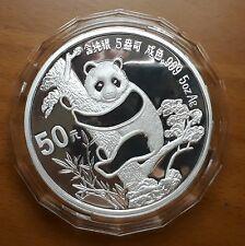 1987 GENUINE 5oz China Panda Silver Proof Coin 50 Yuan - HIGH GRADE!