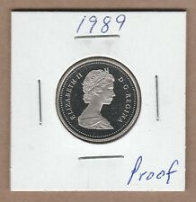 1989 Canadian 25 Cent  From the Proof Set