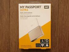 WD My Passport Ultra 4 TB Portable Hard Drive PC/MAC - White/Gold