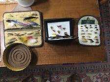 3 vintage fly wallets containing 31 streamers & 62 wet flies;