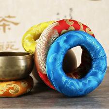 Singing Bowl Cushion Embroidery Buddha Sound Bowls Mat Pillow Tibetan Buddhism