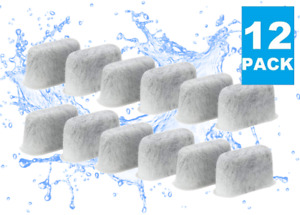 (12) Replacement Charcoal Water Filters for ALL Cuisinart Coffee Makers, DCC-RWF