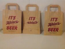 SET OF (3) RARE NOS KAIER'S BEER BROWN PAPER BAGS MAHANOY CITY PA