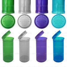 More details for 13/19 dram pop top stash squeeze pot container smell proof child proof pill tub