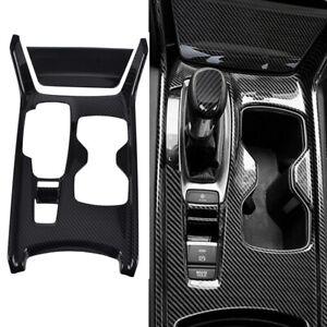 Carbon Fiber Gear Box Shift Panel Frame Stripe Covers Trim For Honda Accord 2018