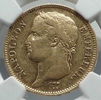 1809 FRANCE Napoleon Bonaparte BIG 40 Francs Antique French Gold Coin NGC i80936