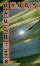 Wooden Scrabble Tiles DADDY DAUGHTER - Craft Scrapbooking - FATHERS DAY