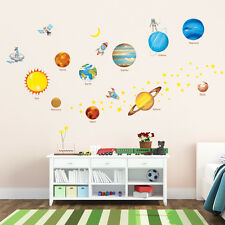 Decowall Space Planets Stars Removable Nursery Kids Wall Stickers Decal DW-1307