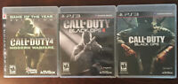 3 PLAYSTATION 3 *  PS3 CALL OF DUTY * BLACK OPS * BLACK OPS II * MODERN WARFARE