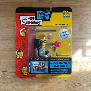 The Simpsons Dr. Stephen Hawking WOS Action Figure - Brand New