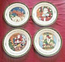 """A Christmas Story� Set of 4 Dinner Plates 11� Portmeirion Studio Susan Winget"