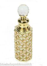 Parfum Flakon leer ✿ Rosa Blüten ✿ Empty Perfume Bottle Pink Flower Glas