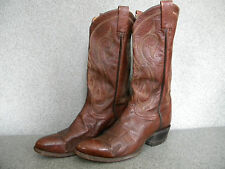 1980's Classic Brown Western Boot's By Tony Lama Made Size 7 1/2D GoodCond.