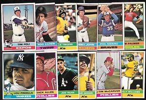 1976 OPC O PEE CHEE TOPPS MLB BASEBALL CARD ERROR & VARIATION 397-528 SEE LIST