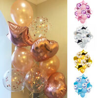 14pcs Wedding Birthday Ballons Latex Foil Balloon Kids Boy Girl Baby Party Decor