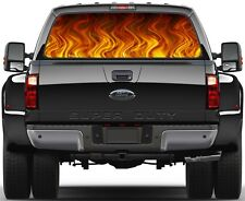 Black Flame Rear Window Graphic Decal for Truck SUV Vans
