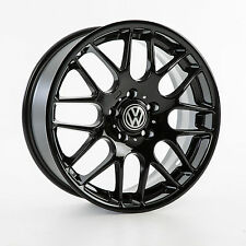"""VW TRANSPORTER T5 T6 T7 19"""" INCH ALLOY WHEELS GLOSS BLACK COMMERCIAL LOAD RATED"""