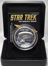 8 dollars 2016-Tuvalu-Star Trek-Enterprise High relief pp 5 Oz plata