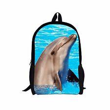 Blue Shark Backpack School Fashion Shoulder Bag for Boy Girl Bookbag Travel Bags