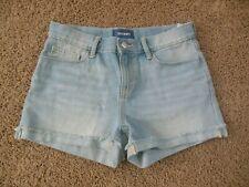 OLD NAVY girls SHORTS size 14 light wash adjustable waistband