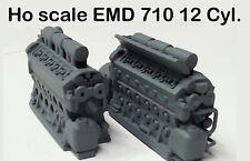 Ho scale EMD 710 12 Cyl. locomotive prime mover
