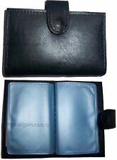 Lot Of 2 Leather Business Card Case Credit Card Case Business Id Photo Case Bn