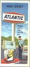 1967 Atlantic New Jersey Vintage Road Map