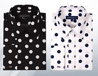 Men's 100% Cotton Polka Dot Dress Shirts MS616