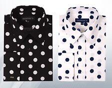 Men's 100% Cotton Polka Dot Dress Shirts MS616