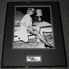 Elke Sommer SEXY Stockings Signed Framed 16x20 Photo Display JSA