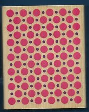 DOTS Background Darice Scrappy Cat LARGE NEW 2010 Wood Mount CRAFT RUBBER STAMP