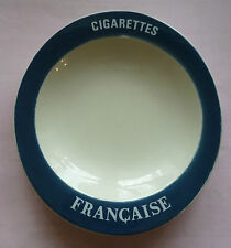 COLLECTOR , CENDRIER PUBLICITAIRE , CIGARETTES FRANCAISE , EN PORCELAINE , CP28