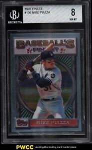 1993 Finest Mike Piazza #199 BGS 8 NM-MT
