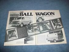 "1970 Ford E-100 Econoline Vintage Custom Van Article ""The Ball Wagon"""