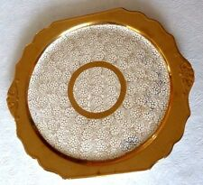Vintage L B Royal Serving Cake Plate Platter 22 Karat Gold Lusterware England UK