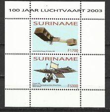 Rep. Suriname - Blokje 100 jaar Luchtvaart 2003 postfr.