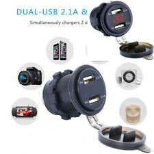 Dual USB Charger Socket Power Outlet 4.2A with Voltmeter &Wire In-line 10A Fuse